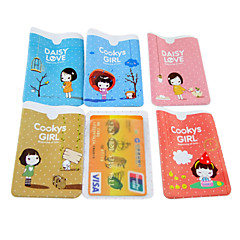 Cookies Girl Pattern Credit Card Full Body Case(Random Color)