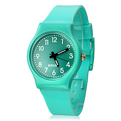 Women's Solid Color Dial Silicone Band Quartz Analog Wrist Watch (Assorted Colors) Cool Watches Unique Watches Fashion Watch