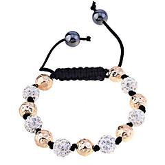 Lureme®Disco Ball with Beads Braided Bracelet