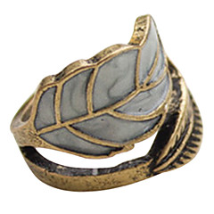 European And American Retro Palace Bohemian Small Fresh Leaves Ring