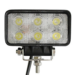 18W 6 LEDs Rectangle Work Light