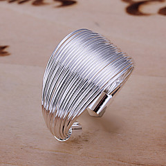Mode Kawat Desain Silver Ring Adjustable