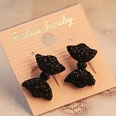 Earring Bowknot Stud Earrings Jewelry Women Party / Daily Alloy Black