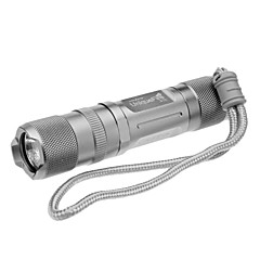 UniqueFire S10 6-mode Cree XP-E R5 LED zaklamp (350LM, 1xAA/1x14500, Zilver)