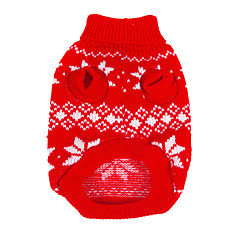Dog Sweater Red Winter Snowflake Christmas / New Year's