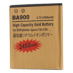 BA900-GD 2450mah mobiltelefon batteri til Sony Xperia TX LT29i ST26i