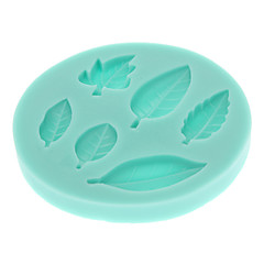 Leaves Series 3D Liquid Silicone Double Sugar Mold Shape