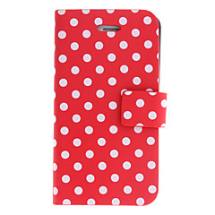 Round Dots PU Full Body Case with Stand for iPhone 4/4S (Assorted Colors)