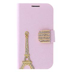 Selyem nyomtatás és a Eiffel-torony festészet minta Strasszos védő tasak Samsung Galaxy S3 I9300