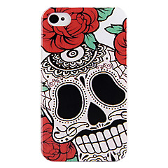 Rose Skull Back Case for iPhone 4/4S