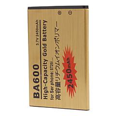 소니 ST25i를위한 ba600 2450mAh의 휴대 전화 배터리