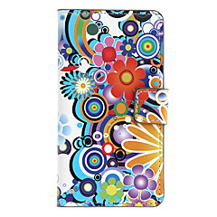 Cartoon Flowers Pattern Full Body Case with Card Slot for Sony L36h (Xperia Z)