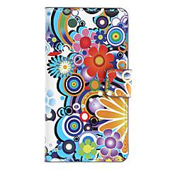 Tecknad blommor mönstrar Full Body Case med kortplats för Sony L36h (Xperia Z)