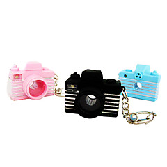 Camera Shape PVC LED Mini-Keychains(Random Color)