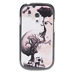 Växande Flower Skull Pattern Hard Back Case Cover för Samsung Galaxy S3 Mini I8190