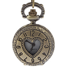 Men's Heart Cover Vintage Alloy Quartz Analog Pocket Watch with Chain Cool Watch Unique Watch