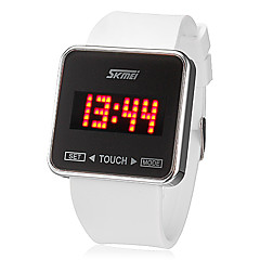 Mannen Touch Screen Rode LED Digital Dial siliconen band quartz analoog horloge (verschillende kleuren)