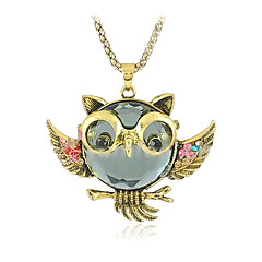 Z&X®  Vintage (Owl) Golden Alloy Pendant Necklace(Golden) (1 Pc)