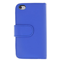 Solid Color PU Full Body Case with Card and Photo Slot for iPhone 4/4S (Assorted Colors)