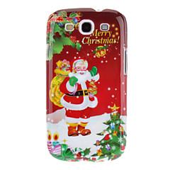 Papai Noel Feliz Natal padrão rígido de volta caso capa protetora para Samsung I9300 Galaxy S3