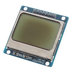 """(Untuk Arduino) compatible 1.6 """"lcd nokia 5110 modul dengan backlit biru"""