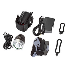 3-Mode 1xCree XM-L T6 LED Bicycle Front Light / forlygte (1000lm, 4x18650, Mørk Grå)