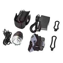 3-Mode 1xCree XM-L T6 LED Polkupyörän Front Light / Ajovalojen (1000LM, 4x18650, Tummanharmaa)