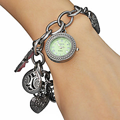 Women's Luminous Dial Flower Style Alloy Band Quartz Analog Bracelet Watch