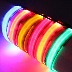 Perros Collar Luces LED / Ajustable/Retractable / Seguridad Rojo / Blanco / Verde / Azul / Rosado / Amarillo / Naranja Nilón