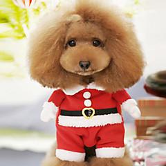 Dog Costume / Coat Red Winter Christmas Christmas