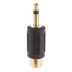 RCA Female to 3.5mm Single Track Male Jack Splitter Adaptor Gold Plated