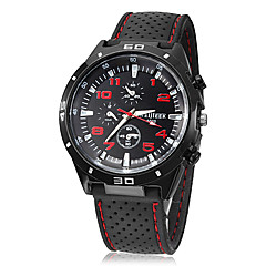 Men's Simple Round Dial Silicone Band Quartz Analog Wrist Watch(Assorted Colors) Cool Watch Unique Watch Fashion Watch