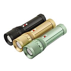 LT-W007 4-Mode Cree XM-L T6 LED Zoom Flashlight (1000LM, 3xAAA, Black/Green/Gold)
