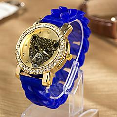 Women'S Water-Resistant Silicon Band Diamond Quartz Analog Watch