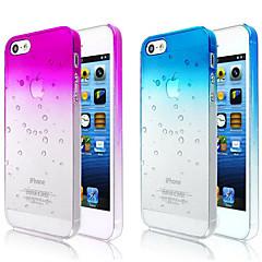 kuplat kaltevuus väri läpinäkyvä takaisin Case for iPhone 5 / 5s (valikoituja väriä)