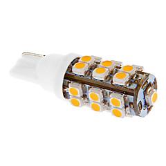 T10 2W 25x3528SMD 75LM 3000-3500K varmt hvidt lys LED pære til bil (DC 12V)