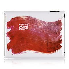Red Maalaus kuvio muovi takakannen iPadille 2/3/4
