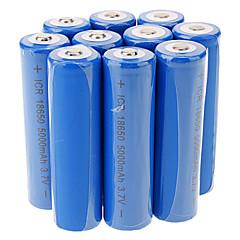 ICR 5000mAh 18650 Li-ion Rechargeable Battery(10pcs)