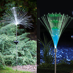 1-LED Kleurrijke Light LED Solar Light Glasvezellichtbron Fontein Tuin Stake