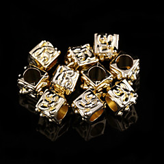 Classic Square Gold Alloy Charms 20 Pcs/Bag (Gold)