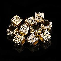encantos clásicos aleación de oro cuadrados 20 piezas / bolsa (oro)