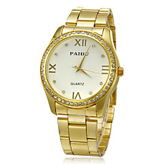 Unisex Diamante Round Dial Alloy Band Quartz Analog Wrist Watch (Assorted Colors)