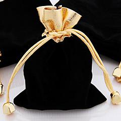 10stk 10x12cm g olden top fløjl snøre smykker gavepose pose
