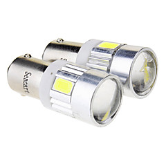 BA9S 2.5W 6x5730SMD 70LM 6000K Cool White LED lamp voor in de auto (12V)