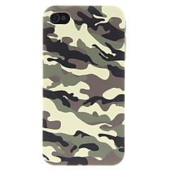 Cas Motif camouflage armée verte Retour avec écran HD Film de protection pour iPhone 4/4S