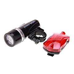 Fietsverlichting Fietsverlichting / Voorzijde Bike Light / Achter Bike Light LED Waterdicht 100 Lumens Batterij Zwart