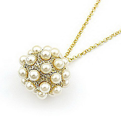 Korean version off the popular ladies section Sphere exquisite lovely pearl necklace long sweater chain N309