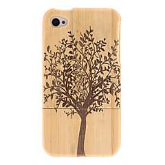 Cas dur en bois Rétro Motif d'arbre pour iPhone 4/4S