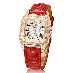 Women's Crystal Square Case PU Band Quartz Analog Wrist Watch (Assorted Colors) Cool Watches Unique Watches