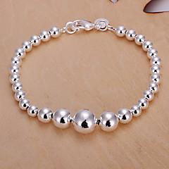 Sweet 21cm Women's Silver Copper Strand Bracelet(Silver)(1 Pc)